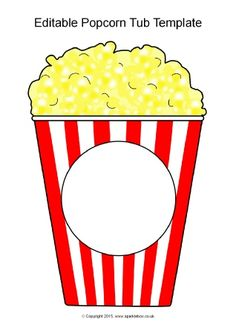 Add your own text to popcorn tubs. Includes large and small versions. Popcorn Theme Classroom, Hollywood Theme Classroom, Classroom Themes, Classroom Activities, Preschool Activities, Popcorn Tub, Popcorn Words, Free Popcorn, Popcorn Gift