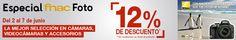 Sólo hasta el 7 de Junio 12% de descuento en Fotografía en Fnac: cámaras, objetivos, filtros, trípodes, ... ¡Que no escapen! http://www.ofertaland.com/cupones-descuento-y-promociones-junio-2015/