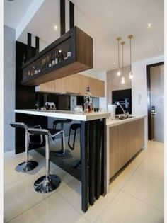 Live edge counter bar kitchen contemporary with wood countertops ...