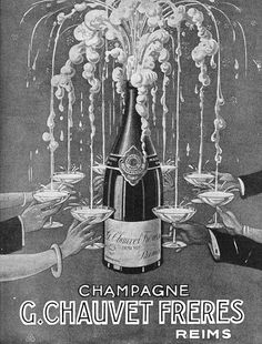 Vintage Happy Hour with Jenny Q: It's Champagne, Dahling Vintage Prints, Vintage Posters, Champagne Tower, Champagne Fountain, Champagne Party, Pub Vintage, Wine Poster, Vintage Champagne, Reims