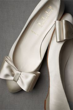 Ballet flat with beautiful bow from Strikes Our Fancy
