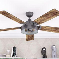 Industrial Ceiling Fan, Vintage Industrial Lighting, Modern Industrial, Industrial Design, Vintage Ceiling Fans, Modern Ceiling Fans, Edison Led, Edison Bulbs, Angled Ceilings