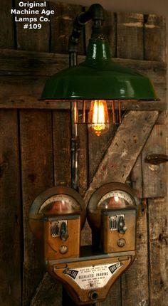 Industrial Duncun Parking Meter Floor Lamp - #109