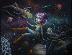 """Mab Graves Paints a Fantastic Cosmos in """"Atomic Candy Cosmonauts"""""""