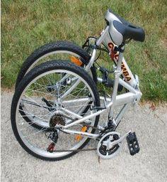 "Folding Bike Columba 26"" Shimano 18 Speed Silver ."