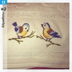 #saka #kuş #etamin #kanavicetrabzon #kanaviçetrabzon #kanavice #kud #havlu #işleme #kanaviçe ...