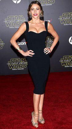 Sofia Vergara in a sexy black Victoria Beckham dress