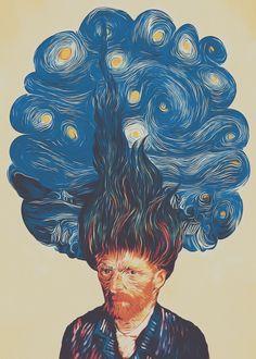 Paintcollar:de hairednacht available as Poster prints, Framed Poster and Art Pri. - Dani Brenes - - Paintcollar:de hairednacht available as Poster prints, Framed Poster and Art Pri. Kunst Inspo, Art Inspo, Van Gogh Tapete, Van Gogh Wallpaper, Van Gogh Art, Poster Prints, Art Prints, Poster Frames, Vincent Van Gogh