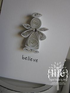 ~ a paper life: ~ quilled white angel Paper Quilling Cards, Origami And Quilling, Quilled Paper Art, Quilling Paper Craft, Paper Crafting, Quilling Patterns, Quilling Designs, Quilling Ideas, Quilling Christmas