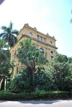 Parque Ipiranga, Sao Paulo, Brazil - exterior gardens of this neo-classical style building constructed in 1895 to preserve 400 years of Brazilian history