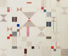 Lena Wolff - Red, Brown and Blue paper quilt, 2008