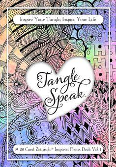 TangleSpeak ~ 28 Card Zentangle Inspired Focus Deck
