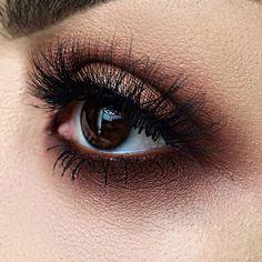 Chocolate--smoked eye using the  Dark Matter Eyeshadow Stack       @lora_arellano