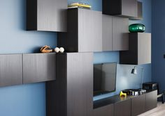 BESTÅ kastcombinatie | #IKEA #DagRommel #woonkamer #kast #modulair #zwart