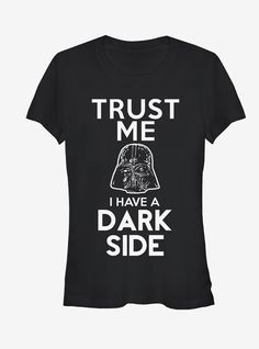 Star Wars I Have a Dark Side Girls T-Shirt - Star Wars Tshirt - Trending and Latest Star Wars Shirts - Funny Star Wars Shirts, Star Wars Jokes, Star Wars Facts, Star Wars Tshirt, Funny Star Wars Pictures, Star Wars Drawings, Star Wars Outfits, Star Wars Girls, Dark Side