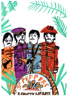 Sgt Pepper Print by DickVincent on Etsy
