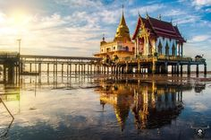 Samut Prakan, a temple in the sea, Thailand