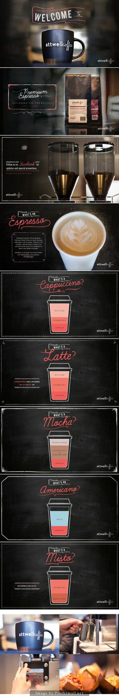 Attwell Coffee Calligraphy, Graphic Design, Illustration - created via http://pinthemall.net