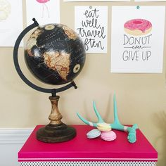 Saturdays are for taking pictures and painting globes