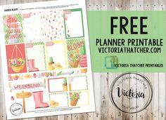 Free Printable Garden Bloom Planner Stickers from Victoria Thatcher
