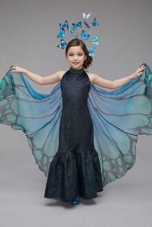 Blue Butterfly Costume for Girls