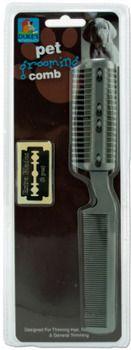 Pet Grooming Comb - Grey Case Pack 24