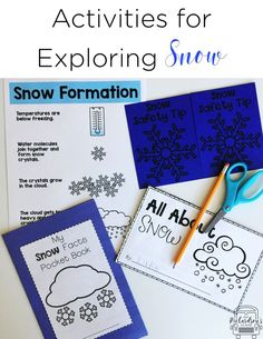 These snow activities are perfect for first grade and kindergarten as they learn all about snow, how snow forms, snow safety, and much more for the winter season!