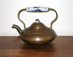 Small Vintage Copper Tea For One Teapot w/ by CookieGrandma60, $30.00