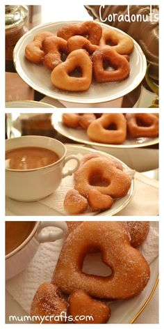 Coradonuts | VotaDIY Donuts, Fun Desserts, Awesome Desserts, Churros, Cake Receipe, Onion Rings, Doughnut, Summertime, Valentines Day