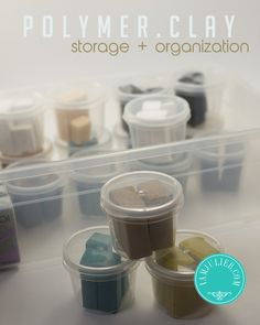 Polymer clay storage and organization tips and information.