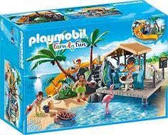 PLAYMOBIL 6979 - Karibikinsel mit Strandbar, Spielzeugfigur