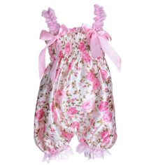 $4.36 - ANDI ROSE Baby Toddlers Baby Girl Infant Kid Newborn Floral Printed Ruffle Romper New (Size: L(12-18Months), Rose)