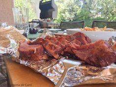 costillas-a-la-barbacoa Barbacoa, Empanadas, Sous Vide, Pork, Chicken, Meat, Pastries, Cookies, Cooking