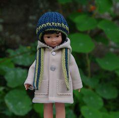 vêtements manteau bonnet écharpe pour poupée type les Chéries de Corolle 32/33 cm