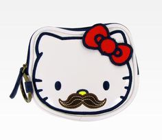 Coin bag mustache :{ this could be easily used by me
