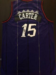 VINCE CARTER Autograph Signed Toronto Raptors Throwback Jersey Beckett COA 979bb8e13