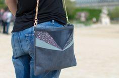 Image of Sac Anna Bleu-Gris #chouettefille #sac #paillettes #glitter #madeinparis