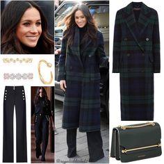 What Meghan Wore on Edinburgh Meghan Markle Outfits, Meghan Markle Style, Work Fashion, Fashion Outfits, Womens Fashion, Chic Outfits, Trench Coats, Blazer, Capes