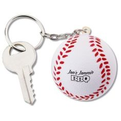 Touch base with these personalized baseball keychains!