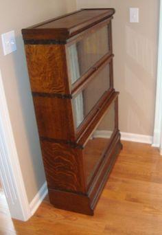 Globe Wernicke Oak Stepback Bookcase