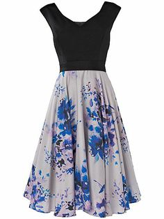 Buy Phase Eight Amalfi Fit And Flare Dress, Black Multi from our Women's Dresses Offers range at John Lewis & Partners. Tie Dye Skirt, Dress Skirt, Tweed Skirt, Phase Eight, Karen Millen, Cotton Dresses, Fit And Flare, My Style, Amalfi