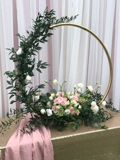 Floral hoop flowers ring Wreaths - moon gate == package of 5 with base unpainted == .your desire sizes and and bundles welcome - Wedding Floral - tischdekoration hochzeit Church Flower Arrangements, Flower Centerpieces, Wedding Centerpieces, Wedding Table, Floral Arrangements, Rustic Wedding, Church Flowers, Wedding Reception, Wedding Color Schemes