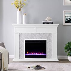Faux Stone Fireplaces, Marble Fireplaces, Brick Fireplace, Fireplace Surrounds, Fireplace Ideas, Fireplace Design, Fireplace Supplies, Fireplace Tile Surround, Fireplace Update