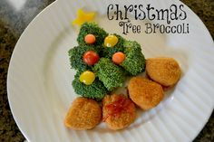 #Mealstogether Christmas Tree Broccoli with Tyson chicken nugget presents