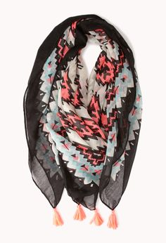 Southwest Bound Woven Scarf | FOREVER21 Scarf season is here! #Printed #Accessories