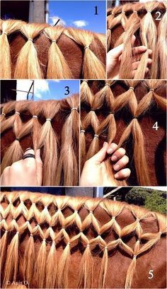 My favorite type of braid, the Diamond braid.