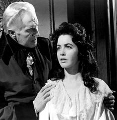 'The House of Usher', 1960 - Vincent Price & Myrna Fahey.