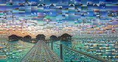 Incredible Photo Mosaics Maldives