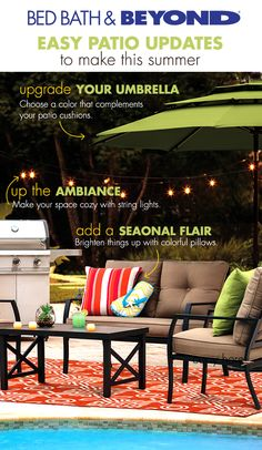Getting your patio summer-ready has never been easier.