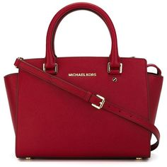 Michael Michael Kors Selma Tote Bag ($354) ❤ liked on Polyvore featuring bags, handbags, tote bags, red, red tote bag, michael michael kors tote, tote bag purse, michael michael kors and tote hand bags